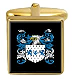 Select Gifts Ballet England Family Crest Surname Coat Of Arms Gold Cufflinks Engraved Box