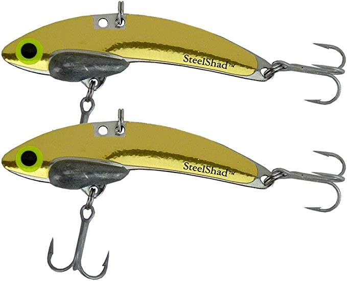 Lipless Crankbait for Freshwater Fishing Crappie Perfect for Ice Fishing Pan Fishing Elite Series Lead Free- Elite Bass Fishing Lures Walleye and Bass 3//8 oz SteelShad