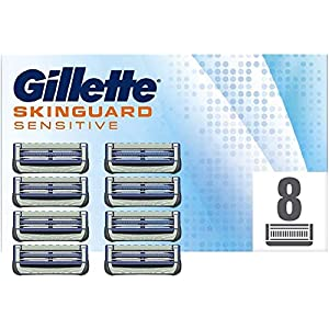 Gillette Skinguard Sensitive Lames de Rasoir Homme, Pack de 8 Recharges [OFFICIEL]