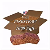 USA Pine Straw - Pine Needle Mulch - Premium Long Needle - Covers 1000 Sqft.