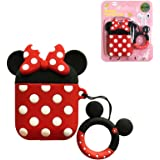 AKXOMY Compatible with Airpods Case Cover, Cute Cartoon Minnie Mouse Airpods Case, Charging Drop-Proof Soft Silicone Protecti