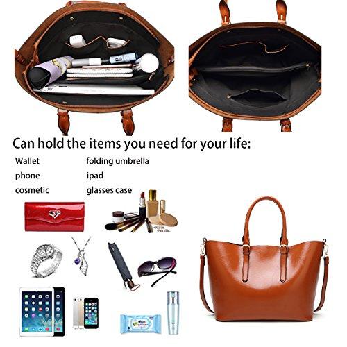 Crossbody Bag Fashion Tisdaini Handbags New Shopping Large Women's Bag Brown Bag Capacity Tote Shoulder Bag qqvgFZt