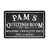 quilting gifts - Personalized Quilting Room Chalkboard Look Metal Room Sign