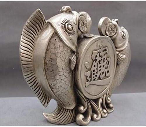 Escultura decorativas estatuas decoración cobre china plata lucky feng shui moneda 2