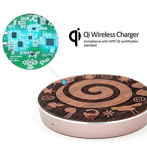 LEAPCOVER® Universal Alta Calidad QI Cargador Inalámbrico Receptor La Carga Rápida para Android Micro-USB Teléfono Inteligente (Wide interfaz Down) Totem