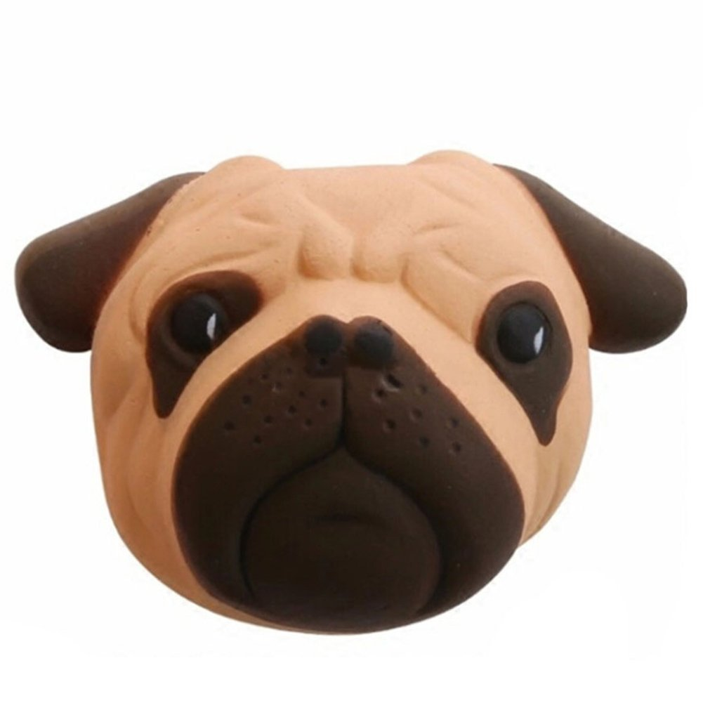 Kawaii Stress Relief Spielzeug PU Simulation Mops Hund Slow Rising Spielzeug mit Duft Nettes Anti-Stress Dekompression Spielzeug fü r Kinder und Erwaschsene 11 x 8 cm Newin Star