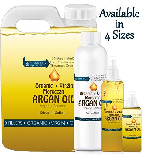 Virgin Organic Argan Oil-100% Pure Virgin Organic Argan Oil, Easy Spray Application
