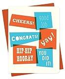 Congrats Overlap Letterpress Congratulations Card by Night Owl Paper Goods