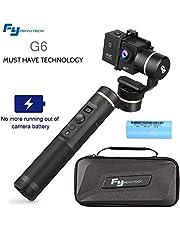 FeiyuTech G6 Gimbal Stabilizer, 3-Axis Handheld Gimbal Aktion Kamera Stabilisator IP67 Wasserdicht Selfie Halterung Update Version von G5 WiFi + Blue Tooth OLED Bildschirm für Hero 6 5 4 RX0