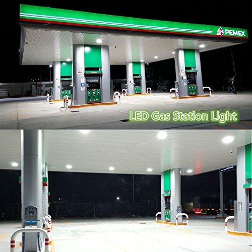 1000LED LED Gas Station Canopy Light 200W 23,000Lm Output Lumens Daylight  5000K Waterproof IP65AC100-277V UL DLC Approval for Gas Station