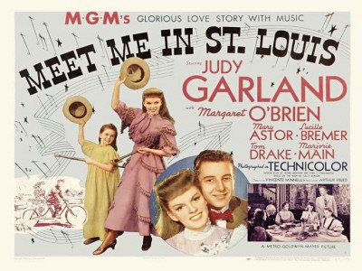 Meet Me in St. Louis Movie Poster (30 x 40 Inches - 77cm x 102cm) (1944) UK -(Judy Garland)(Margaret O'Brien)(Mary Astor)(Lucille Bremer)(Tom Drake)(June Lockhart) Poster Print, 40x30 (June Lockhart Meet Me In St Louis)