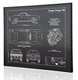 1970 Dodge Charger Blueprint Artwork-Laser Marked & Personalized-The Perfect Dodge Gifts