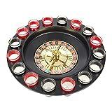 Juvale Roulette Drinking Game - Shot Glass Roulette Set Includes Roulette Wheel, 16 Shot Glasses, 2 Roulette Balls Starting Guide, Great for a Christmas, White Elephant, Secret Santa Gift