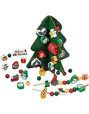 Kerstboom inrijgen en felsen, rijgspel educatief speelgoed, cadeau, motoriekspeelgoed, Montessori-speelgoed, educatief speelgoed, cadeaus voor kleine meisjes, jongens 2 3 4 5 6 jaar