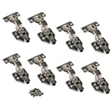 JinHe Stainless Steel Soft Slow Close Clip On Frameless Cabinet Hinges For Inset Door 4-Pairs