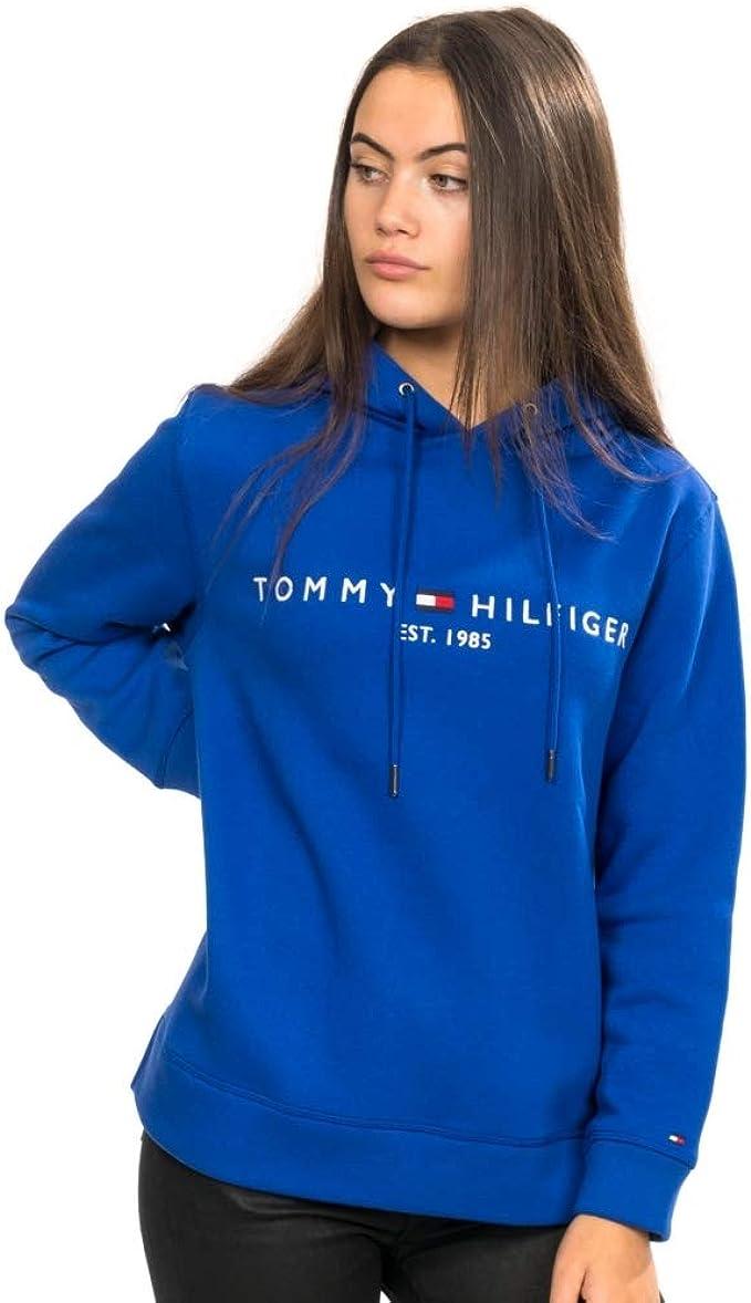 Felpe senza cappuccio Donna Tommy Hilfiger TH ESS HILFIGER C-NK SWEATSHIRT Blu W