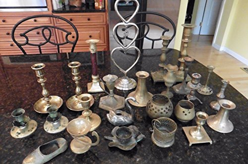 Lot of 25 Candle sticks holders Brass &  - Silverplate Vanity Shopping Results