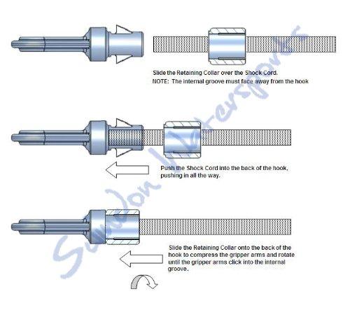 Bungee Hook Fasnap For 1//4 // 3//16 Bungee Heavy Duty OPEN Bungee Cord Hook- 10 Pack Plastic Heavy Duty Cord End