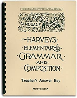 Answer Key for Harvey's Elementary Grammar and Composition: Answers and Teaching Helps (Harvey's Language Course) (0880621532) | Amazon price tracker / tracking, Amazon price history charts, Amazon price watches, Amazon price drop alerts