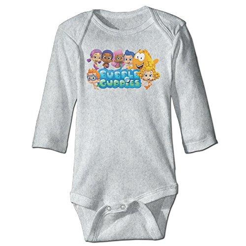 Bubble Guppies Merchandise (Baby Kids 100% Cotton Long Sleeve Onesies Toddler Bodysuit Bubble Guppies Babysuits Ash Size 24)