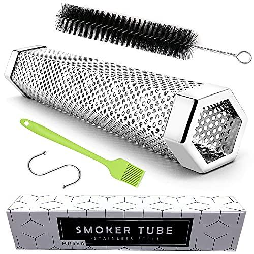 "Smoke Tube – 12"" Smoke Tube for Pellet Grill 5 Hours of Billowing Smoke, Stainless Steel Pellet Smoker Tube for All…"