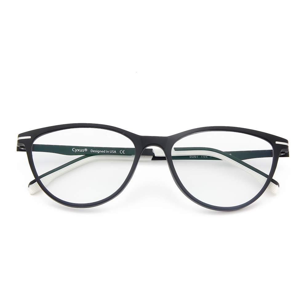 Classico nero unisex Cyxus Occhiali luce blu bloccanti per il blocco della cefalea UV uomini//donne Occhiali retr/ò Anti Eyestrain Tartaruga