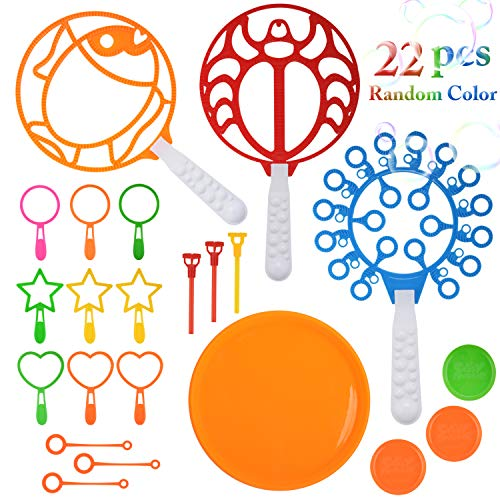 Coxeer Bubble Wands Set, 22PCS Colorful Multihole Bubble Toys Bubble Making Wand for Kids Outdoor Game Toy Nice for Outdoor Playtime & Birthday Party & Games(Random Color) for $<!--$10.55-->