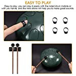 Steel Tongue Drum 6 Inch Hand Pan Percussion Drum 8 Tune Ethereal Drum Instrument Set with Drum Carry Bag, 2 Drumsticks…