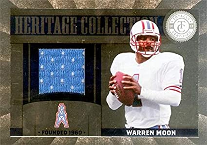 Warren Moon player worn jersey patch football card (Houston Oilers) 2012  Panini Heritage Collection 0a9da8c2e