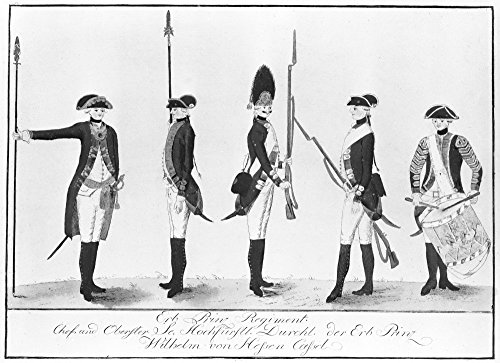 - Hessian Soldiers Nhessian Soldiers Of The Erb Prinz Regiment Who Fought For The English During The American Revolution Drawing 18Th Century Poster Print by (24 x 36)