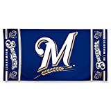 MLB Milwaukee Brewers 30 by 60 Fiber Reactive Beach Towel