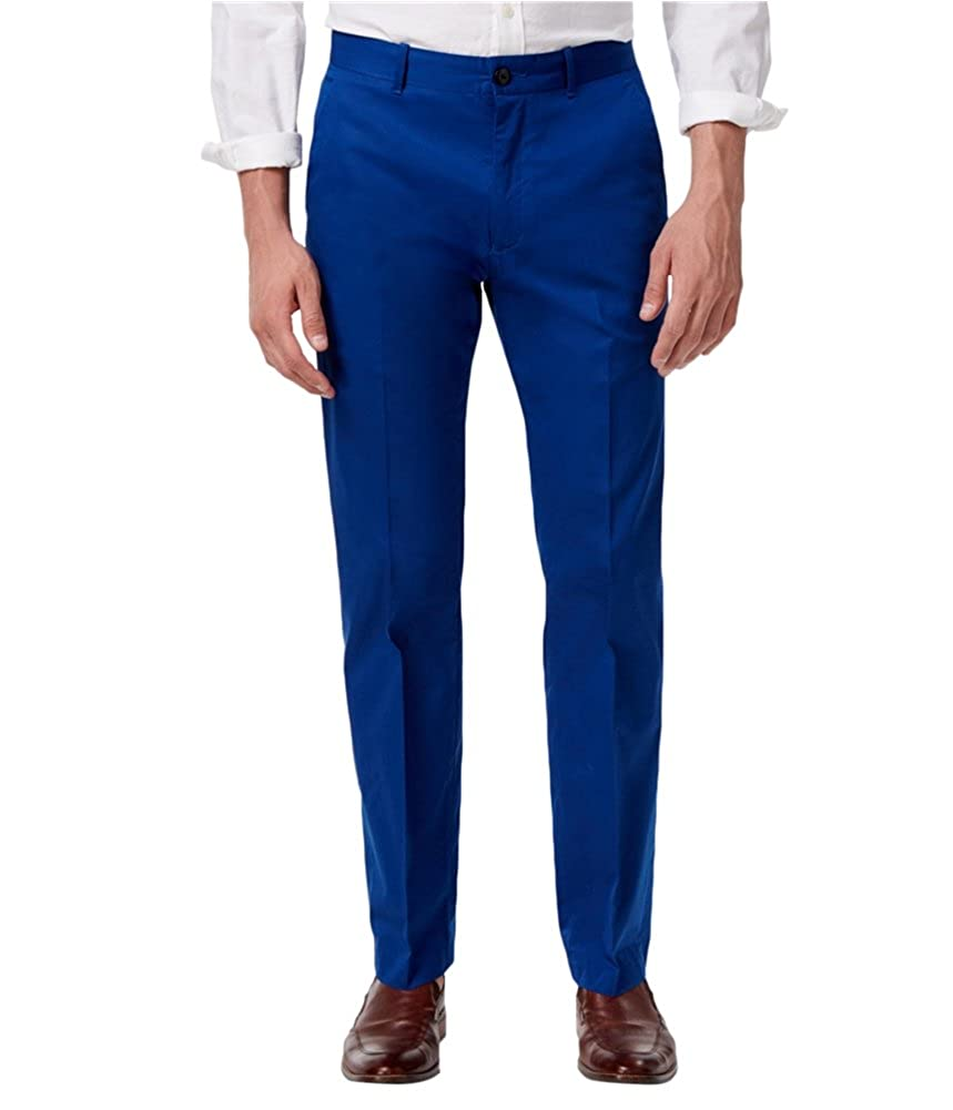Alfani Mens Solid Stretch Casual Trousers