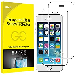 JETech Screen Protector for Apple iPhone SE (2016 Edition), iPhone 5s, iPhone 5c and iPhone 5, Tempered Glass Film, 2-Pack