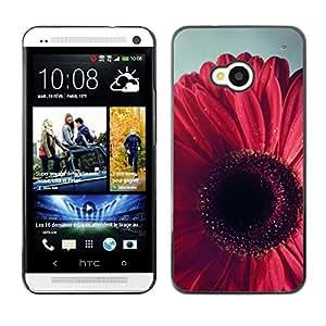 TopCaseStore / la caja del caucho duro de la cubierta de protección de la piel - Petal Floral Pink Purple - HTC One M7