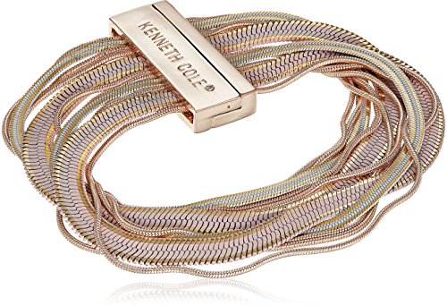 Kenneth Cole Ladies Bracelet - Kenneth Cole New York Womens Rose Gold, Blush and Neutral Long Chain Bracelet, One Size