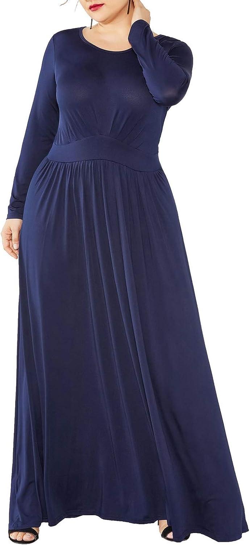 ZANZEA Women Summer Long Maxi Dress Casual Plain Short Sleeve T-Shirt Dress Plus