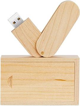 Garrulax Memoria USB, Pendive USB 2.0, Premium Madera Maciza 8GB / 16GB / 32GB Alta Velocidad Memorias Pen Drive con Caja de Madera: Amazon.es: Electrónica