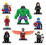 The Avengers Marvel DC Super Heroes Series Building Blocks Sets Minifigure Bricks Toys Compatible With Lego 8Pcs/Set SY161 (No box, no card)