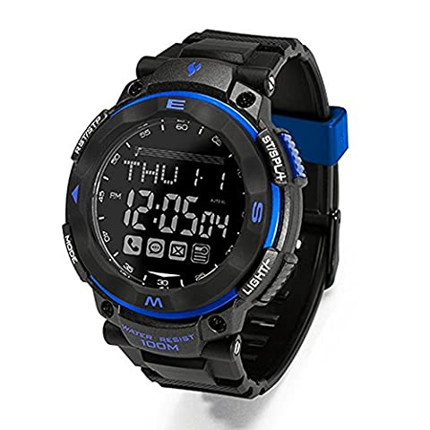 Joyeer Smart Watch Fitness Tracker SOS Call Message Reminder Pedometer Wristband Remote Camera Task Alert Alarm Clock Waterproof Anti-lost Smartband , Random delivery