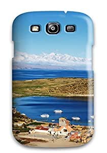 Premium Titicaca Lake Back Cover Snap On Case For Galaxy S3