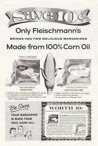 Fleischmann's Margarine Vintage Ad - 1960's (10 cent coupon) # - Fleischmanns Margarine