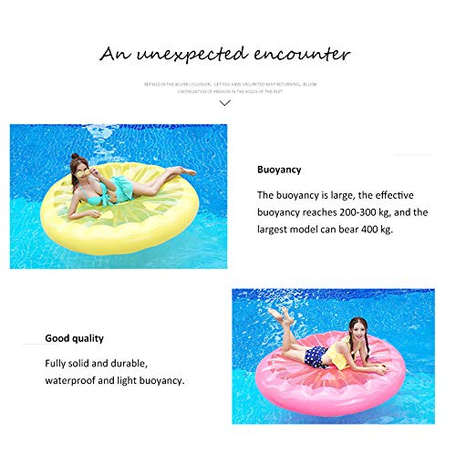 Giant Inflatable Lemon Slice Floating Row Adults Kids Summer Beach Toy Swimming Pool Party Lounge Round Raft-Yellow by WYL (Image #3)