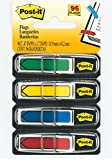 Post-it Arrow Flags, Assorted Primary Colors, 1/2-Inch Wide, 24/Dispenser, 4-Dispensers/Pack
