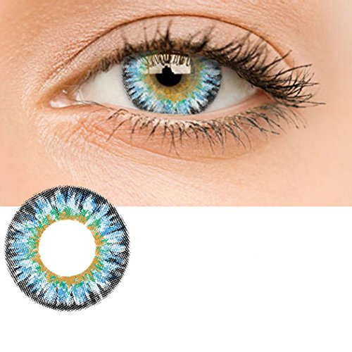 Zouvo Women Materials Multicolor Cute Charm and Attractive Contact Lenses (Blue)