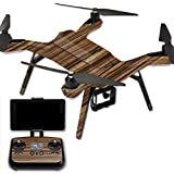 MightySkins Protective Vinyl Skin Decal for 3DR Solo Drone Quadcopter wrap cover sticker skins Dark Zebra Wood