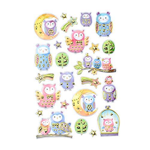 Frenzy Foil - Homeford Hoot Owl Frenzy Foil Fun Stickers, 24-Piece