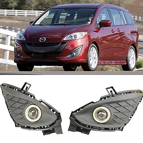 eeMrke ee-fr2015-ae5098 Angel Eye Coche LED DRL E13 55 W H11 Bombillas halógena luz de niebla para Mazda Mazda 5 II 2010 - 2014: Amazon.es: Coche y moto