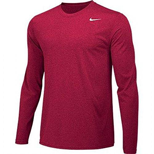- Nike Boys Legend Long Sleeve Athletic T-Shirt (Red, Youth X-Large)