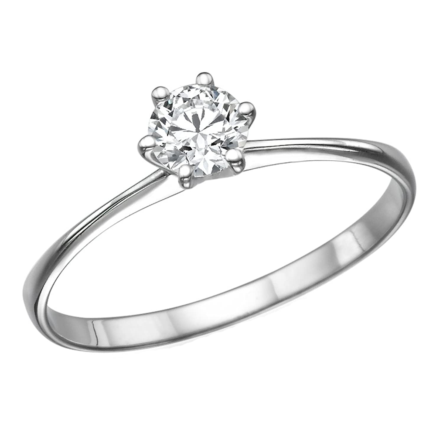 1/5-1/3 ct IGI Certified Diamond Engagement Ring in 14K White Gold (1/5 – 1/3 ct, J-K Color, I1-I2 Clarity)