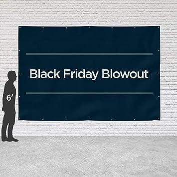 Basic Navy Heavy-Duty Outdoor Vinyl Banner 9x6 Black Friday Blowout CGSignLab